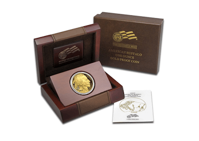 Moneda de oro Buffalo en su versión proof