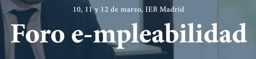 Foro e-mpleabilidad IEB
