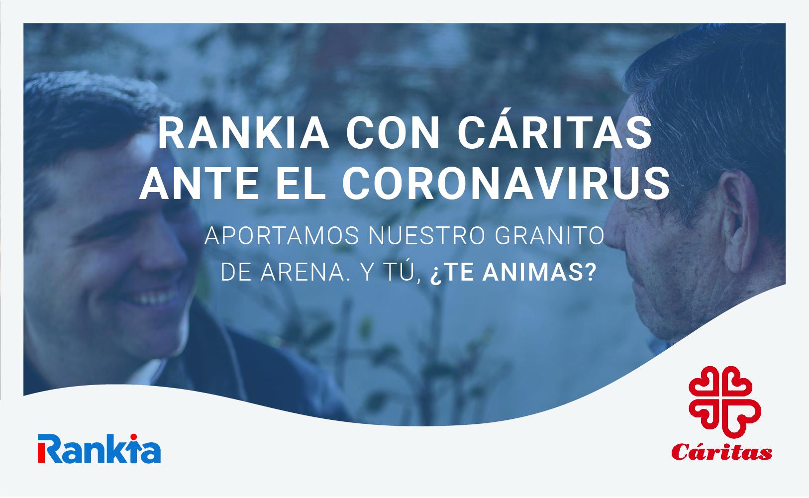 Rankia con Cáritas ante el coronavirus