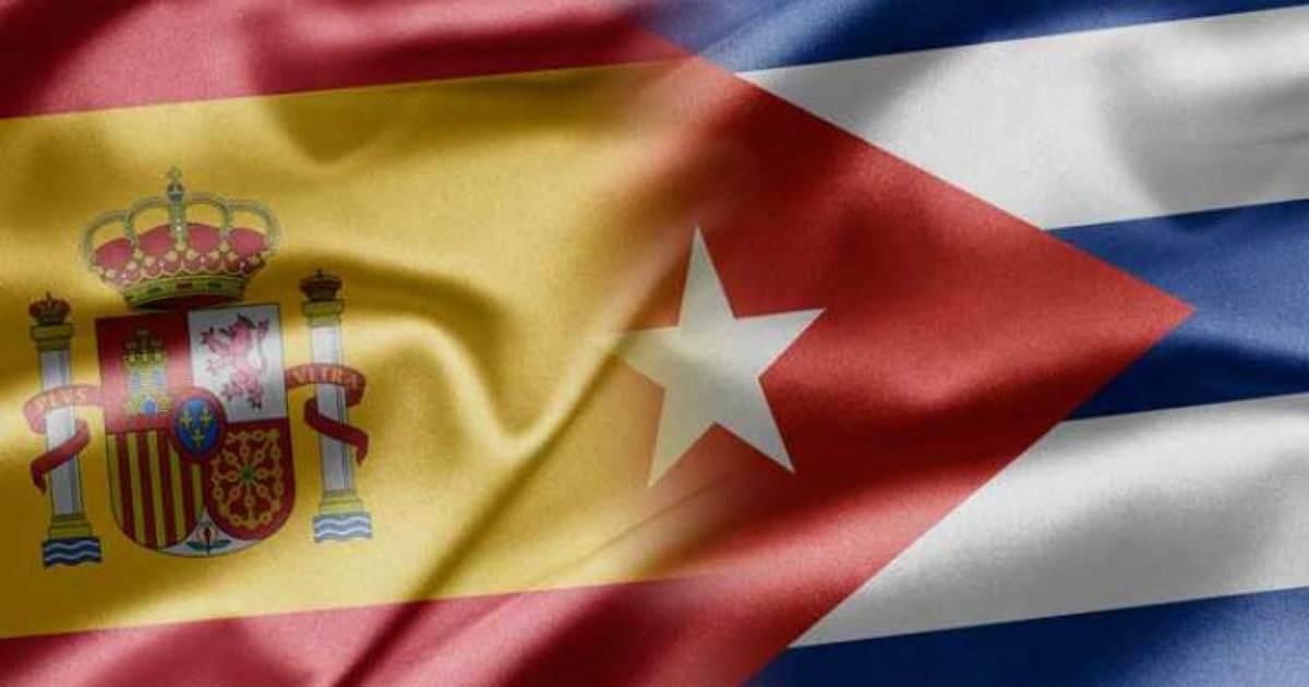 bandera cuba y españa