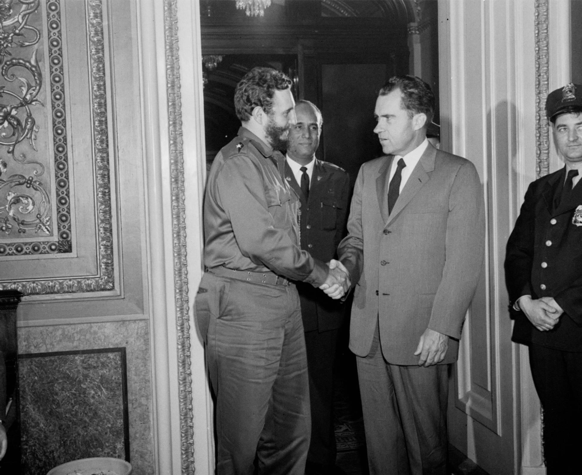 Fidel y Nixon