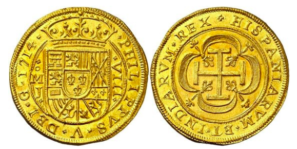 Imagen monedas escudo galano de México Value School