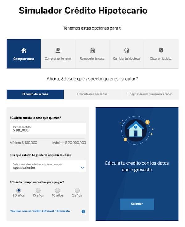 Créditos e hipotecas BBVA Bancomer