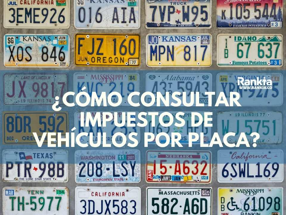 ¿Cómo consultar impuestos de vehículos por placa?
