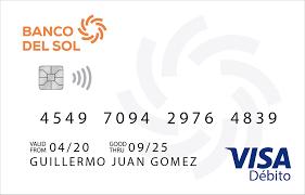 Tarjeta de débito Visa Banco del Sol: solicitar, requisitos y beneficios
