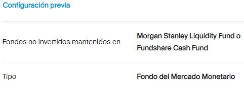 Configuración del Fondo Monetario
