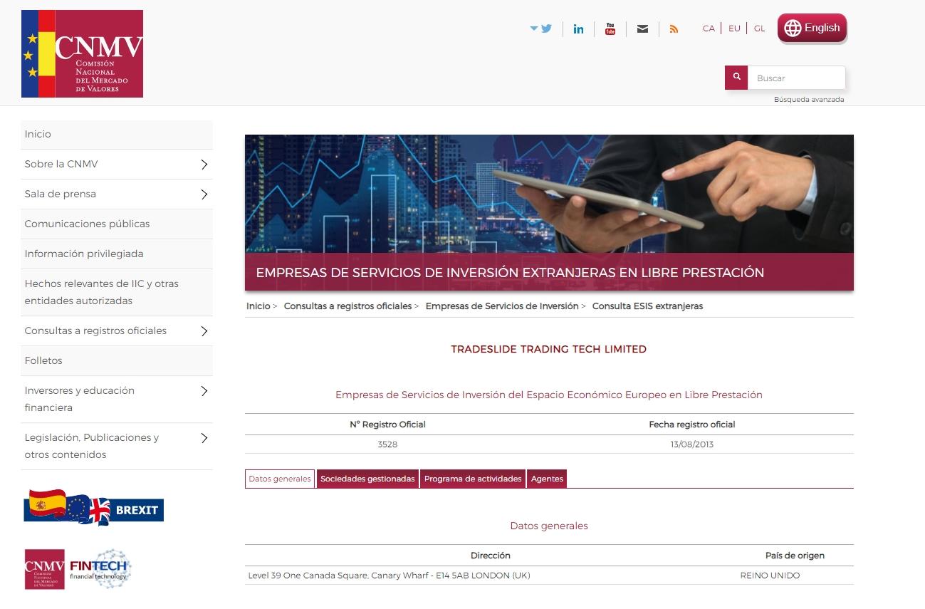 Registro de Darwinex en la CNMV