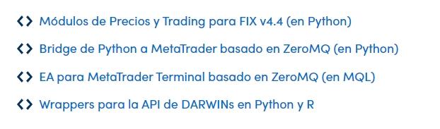 Trading algorítmico con las plataformas de Darwinex