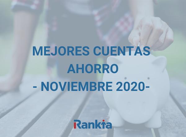 Mejores cuentas de ahorro noviembre 2020