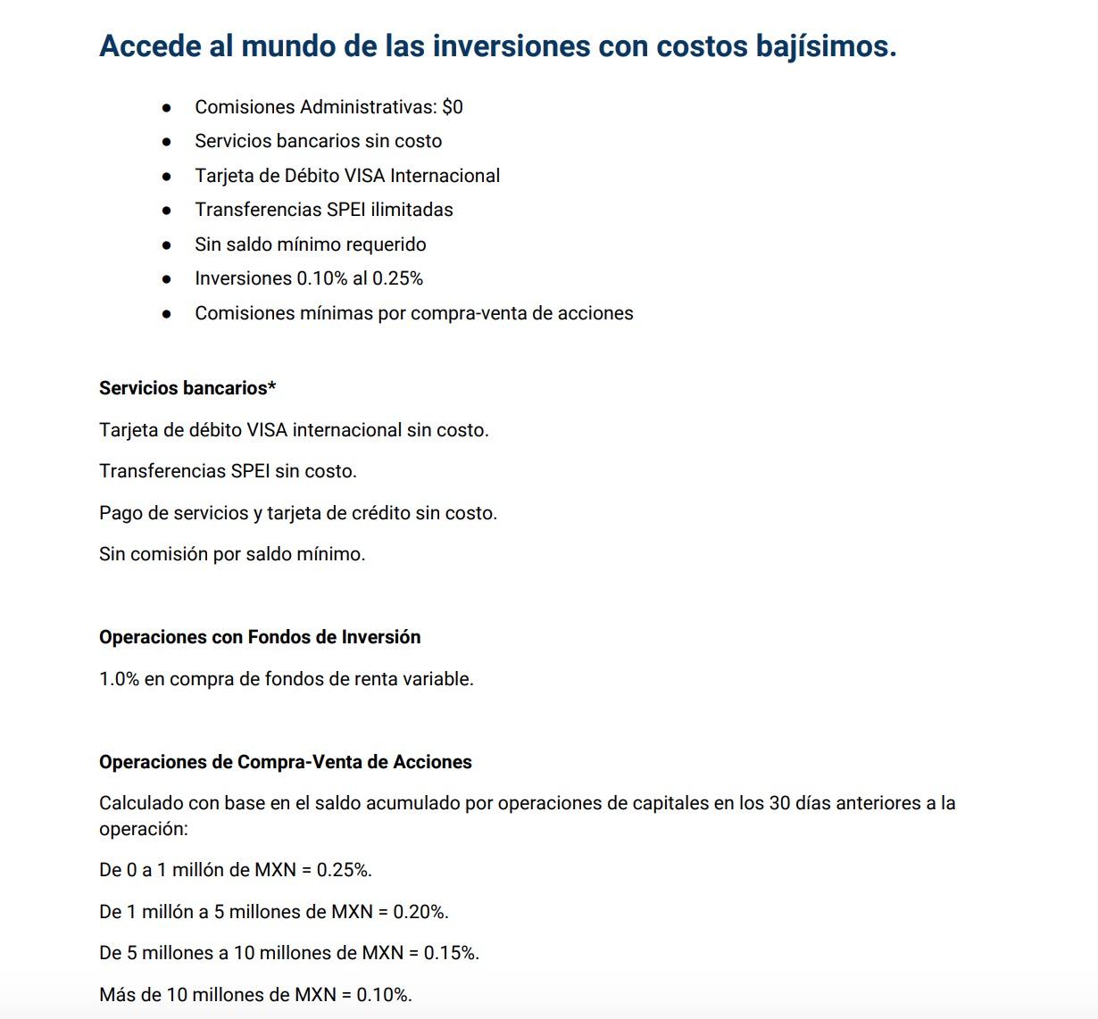 Comisiones Bursanet