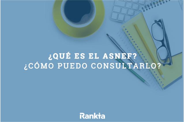 ¿Qué es el Asnef? ¿Cómo consultar el Asnef?