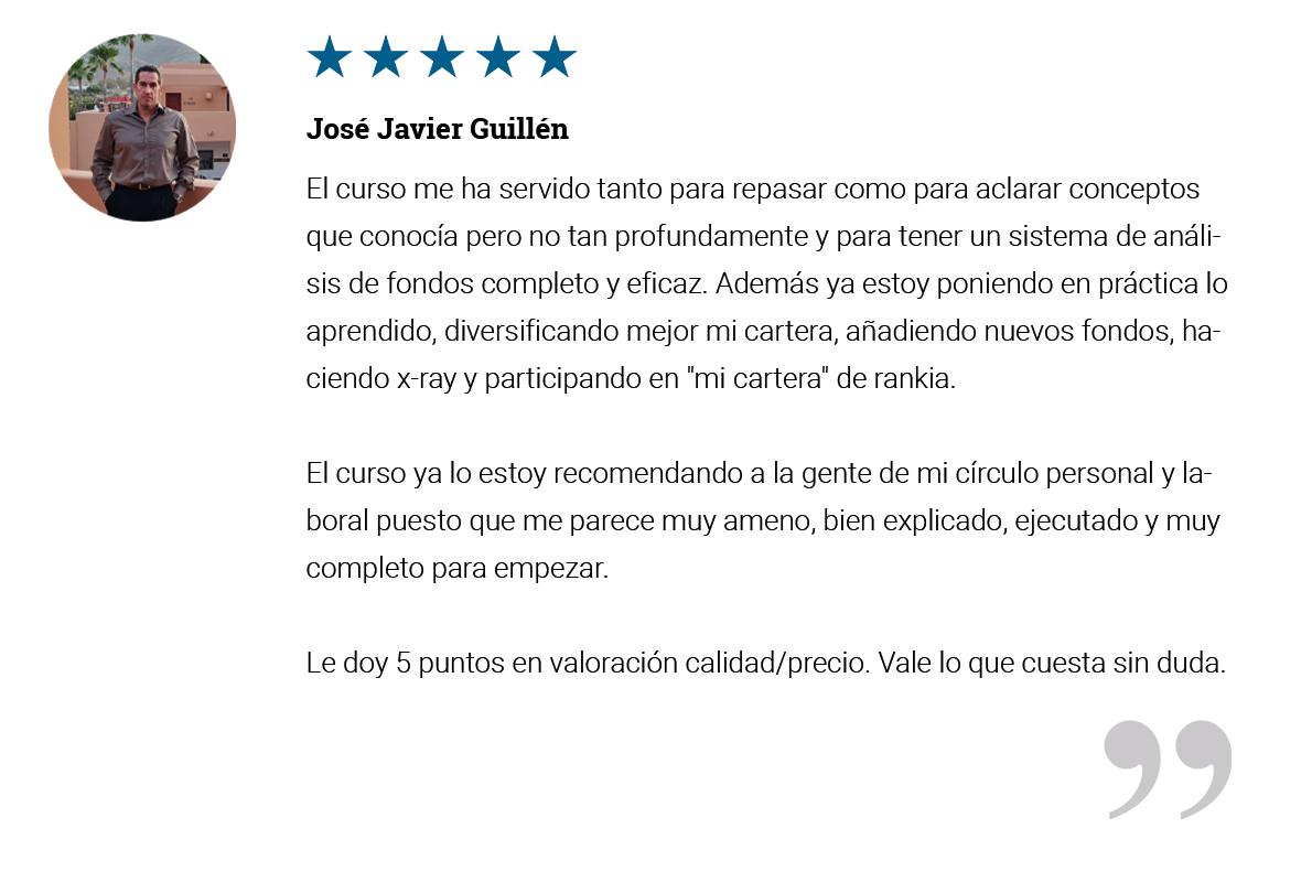 Testimonio Jose Javier Curso de Fondos